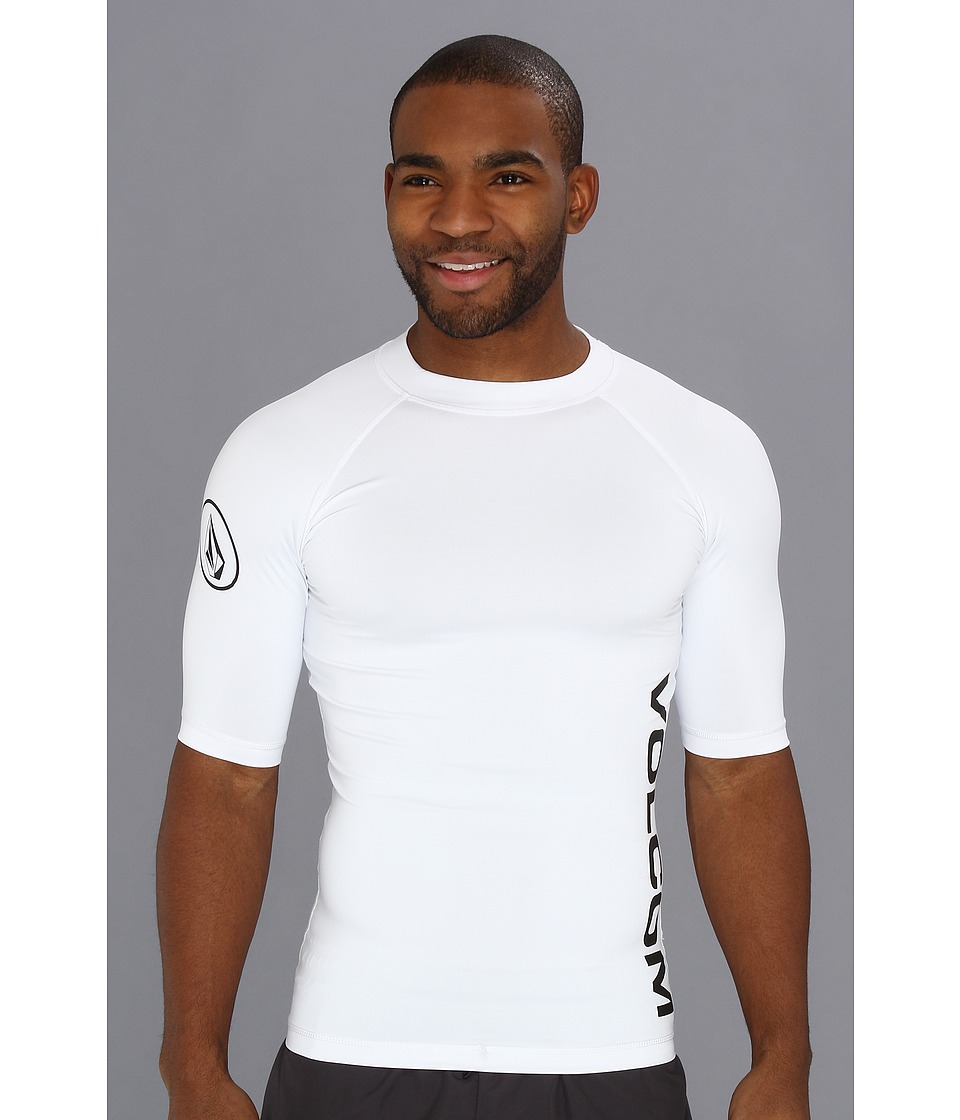Volcom - Solid S/S Thrashguard 2 (White) Men's Swimwear