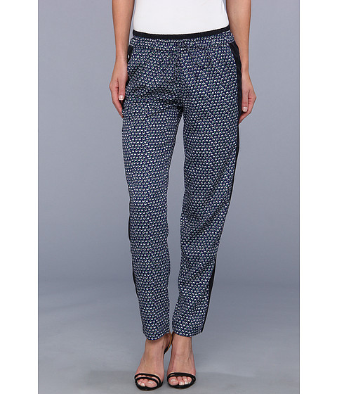 KUT from the Kloth - Printed Softed Pant (Navy) Women's Casual Pants