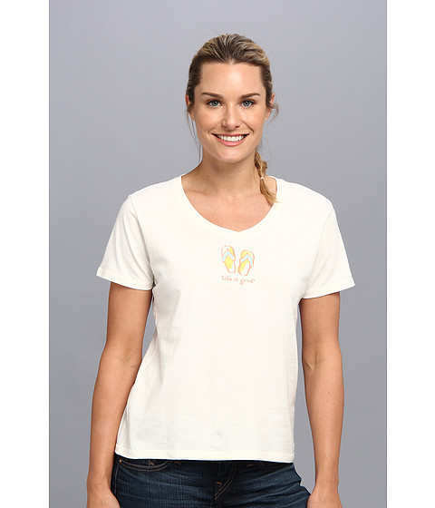 Life is good - Sleep Vee Tee (Simply Ivory 2) Women