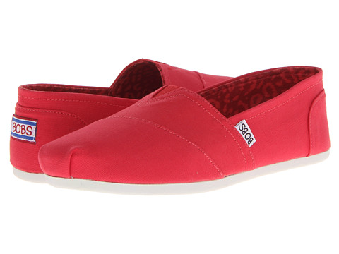 BOBS from SKECHERS - Bobs Plush - Peace and Love (Red) Women