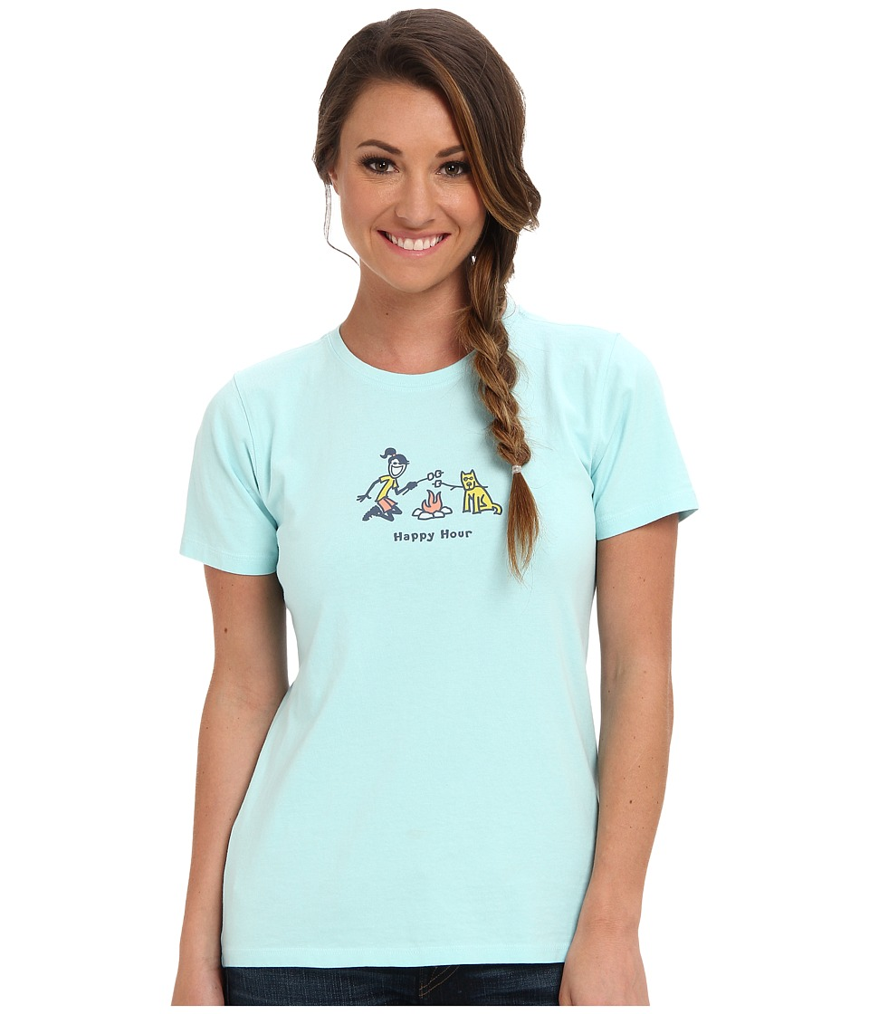 Life is good - Jackie Happy Hour Crusher Tee (Soft Blue) Women's T Shirt