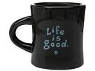 Life is good Diner Mug (Night Black)