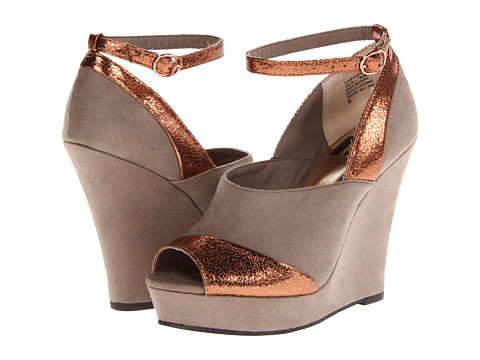 BC Footwear - All I Want (Taupe/Copper) Women's Wedge Shoes