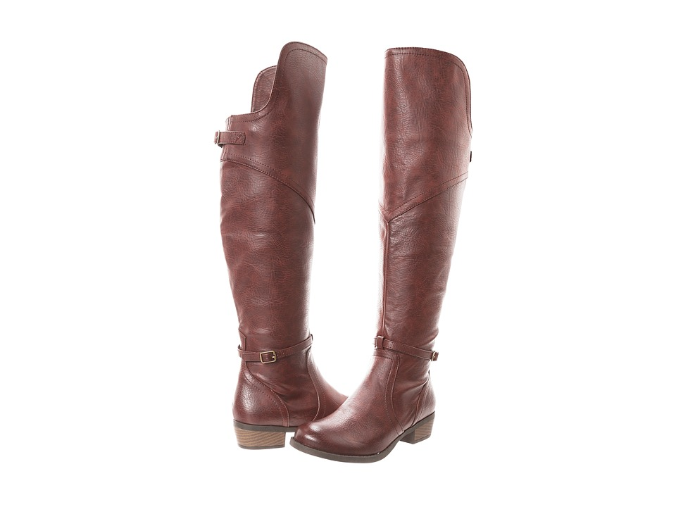 BC Footwear - Take Five (Cognac) Women's Zip Boots