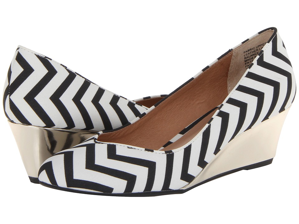 Seychelles - High Hopes (Black/White Chevron) Women's Shoes