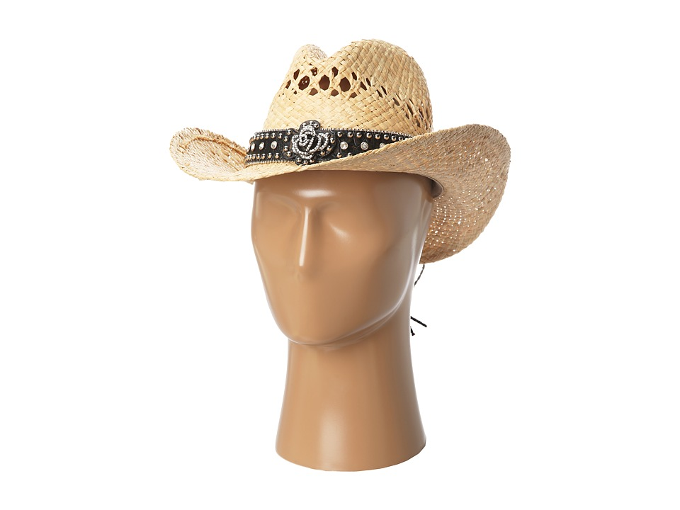 M&F Western - 7100502 (Brown Rose/Raffia) Caps