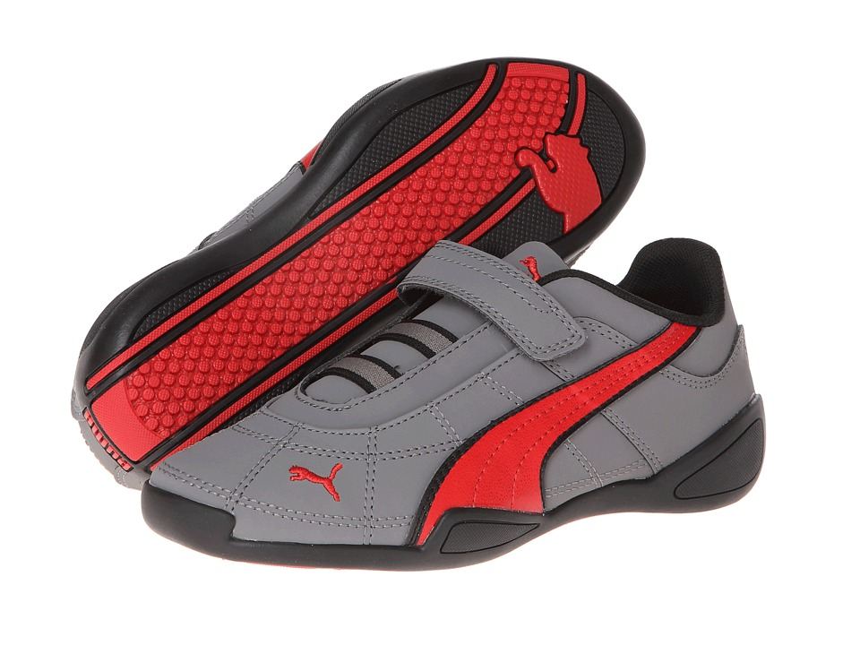 Puma Kids - Tune Cat NBK 2 V (Toddler/Little Kid/Big Kid) (Dark Shadow/High Risk Red/Black) Girl's Shoes