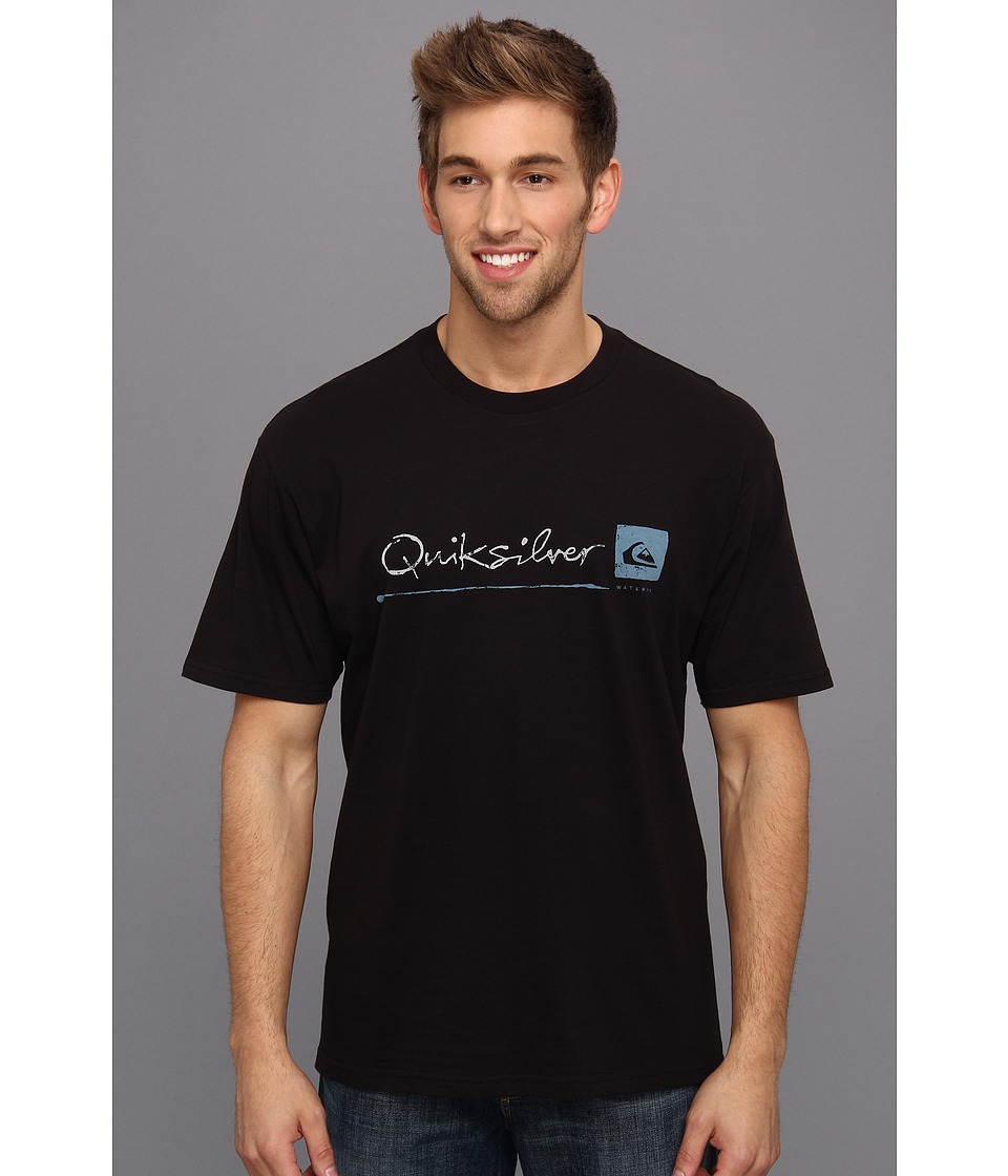 Quiksilver Waterman Standard T Shirt Mens T Shirt (Black)
