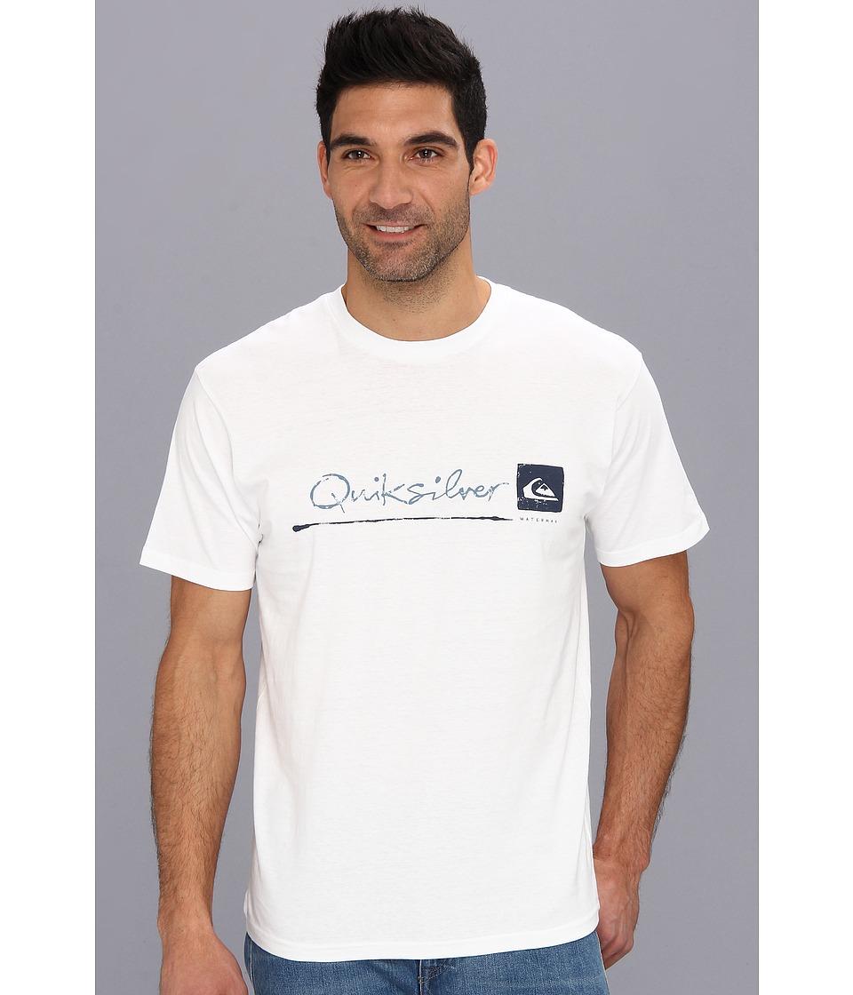 Quiksilver Waterman Standard T Shirt Mens T Shirt (White)