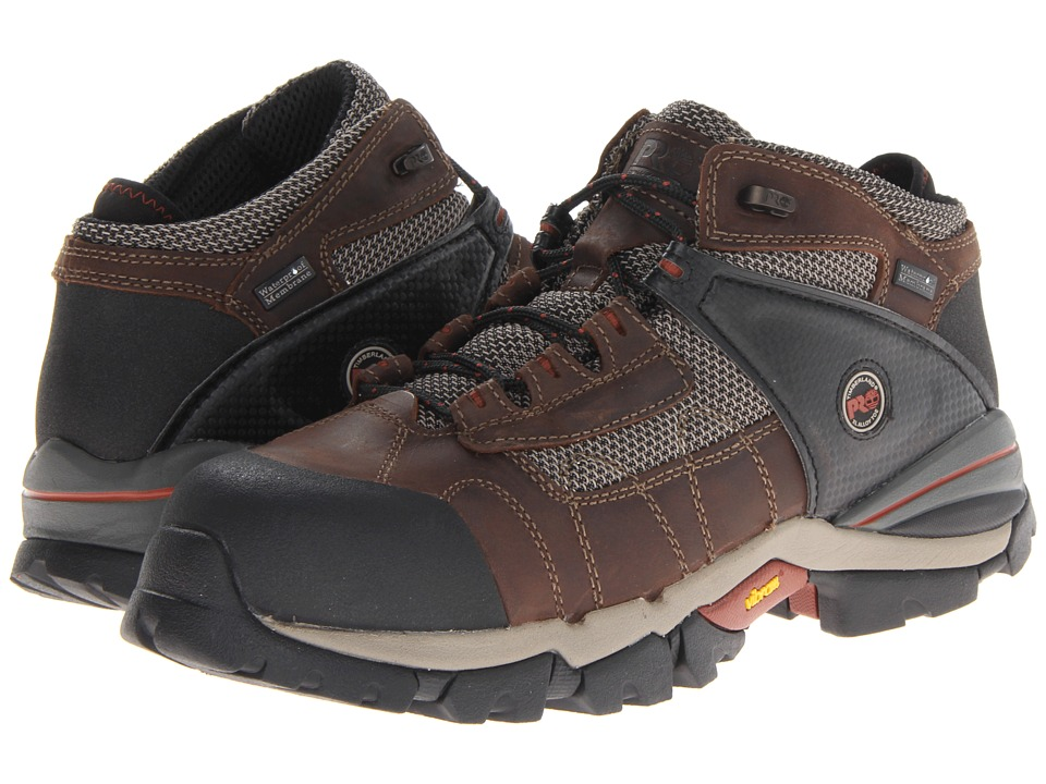 Timberland PRO - Hyperion WP 4 Safety Toe Hiker (Brown) Men's Lace up casual Shoes