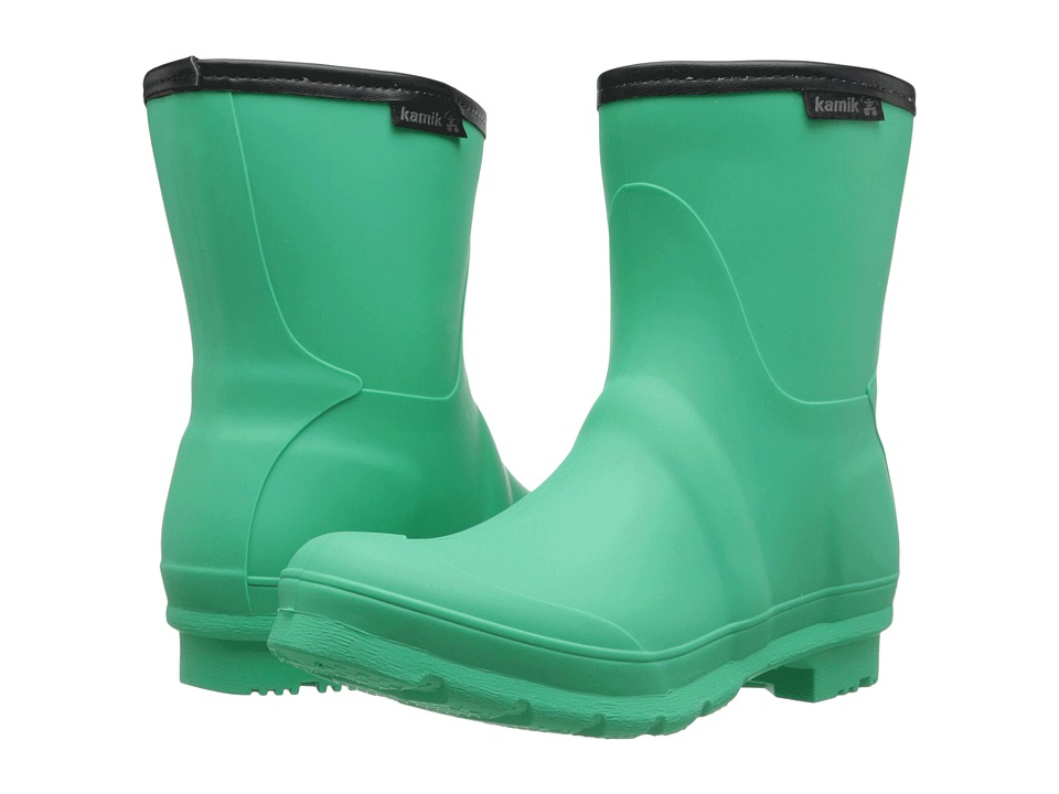 Kamik - JenniferL (Green/Black Sole) Women's Rain Boots