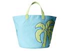 Life is good Palm Tree Dockside Beach Bag (Surfer Blue)