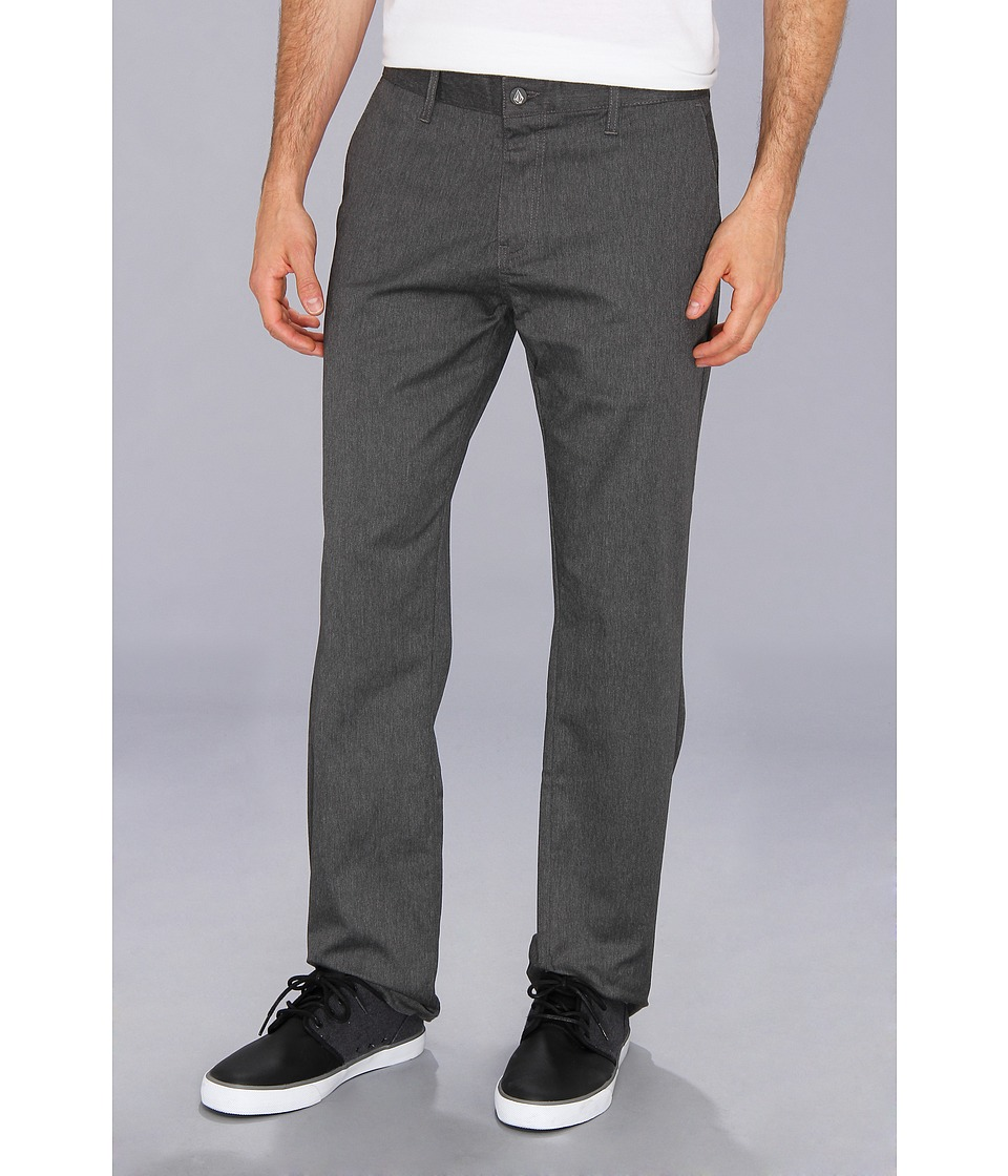 Volcom - Frickin Modern Stretch Chino (Charcoal Heather) Men's Casual Pants