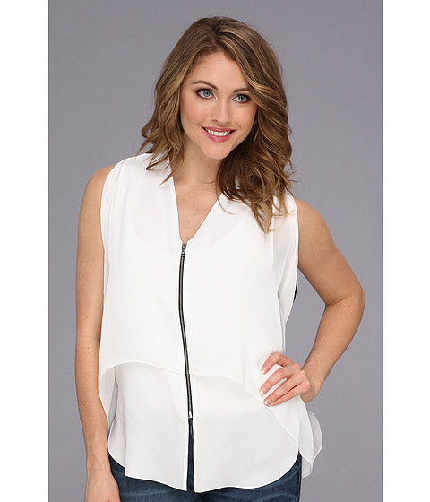 Kenneth Cole New York - Callidora Blouse (White/Black) Women
