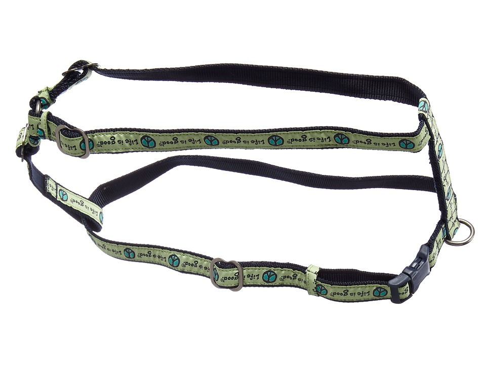 Life is good - Medium Harness (Citron Green) Dog Harness