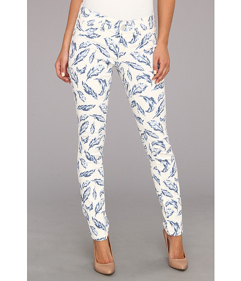 Seven7 Jeans Printed Skinny Pant (Blue Feather) Women's Jeans