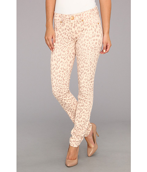 Seven7 Jeans - Printed Skinny Pant (Peach Leopard) Women's Jeans