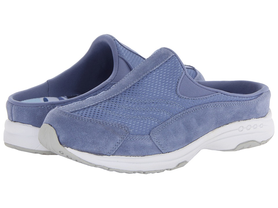 Easy Spirit - Traveltime (Medium Blue/White Suede) Women's Shoes