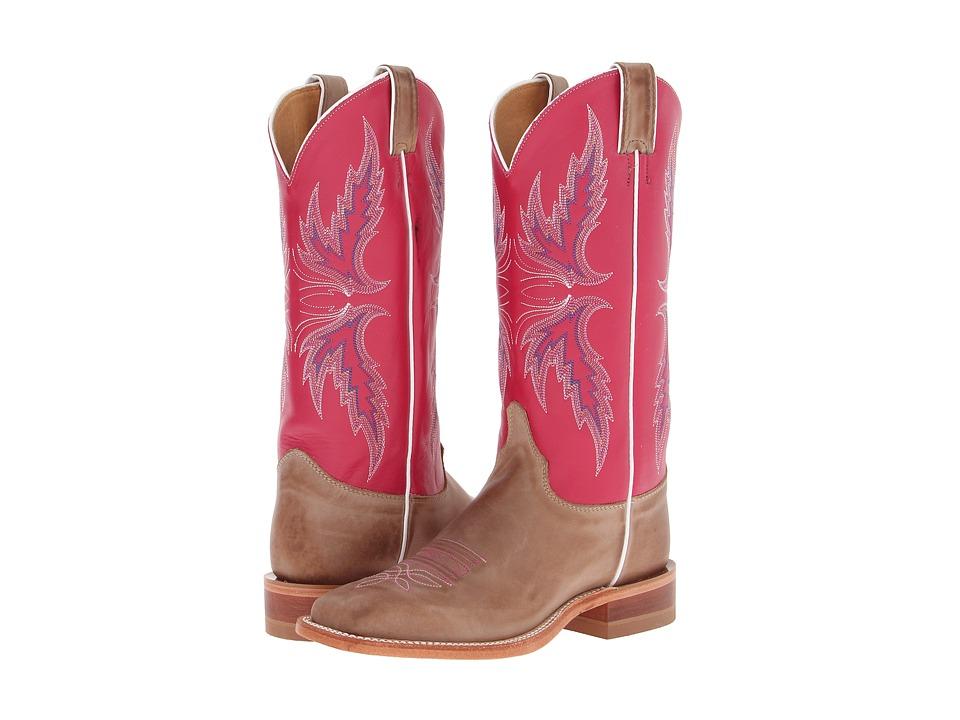 Justin - BRL311 (Tan/Dark Pink) Cowboy Boots