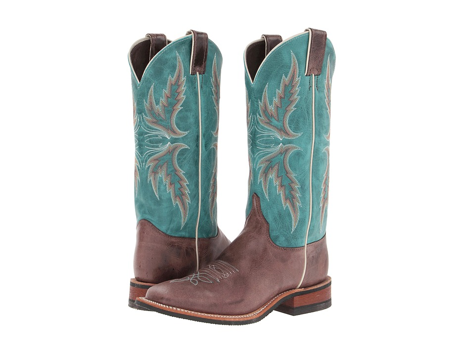 Justin - BRL335 (Chocolate/Blue) Cowboy Boots