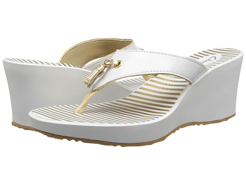 Clarks Yacht Flash (White) Women's Wedge Shoes