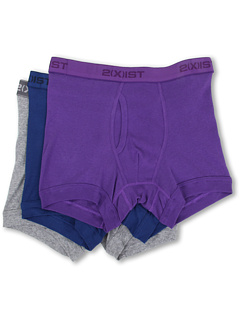 SALE! $16.99 - Save $19 on 2(X)IST 3 Pack ESSENTIAL Boxer Briefs (Navy Royal Purple Heather Grey) Apparel - 52.81% OFF $36.00