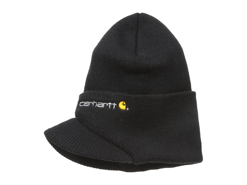 Carhartt - Knit Hat with Visor (Black) Caps