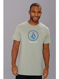 SALE! $16.99 - Save $8 on Volcom Circle Staple S S Tee (Thyme Green Heather) Apparel - 32.04% OFF $25.00