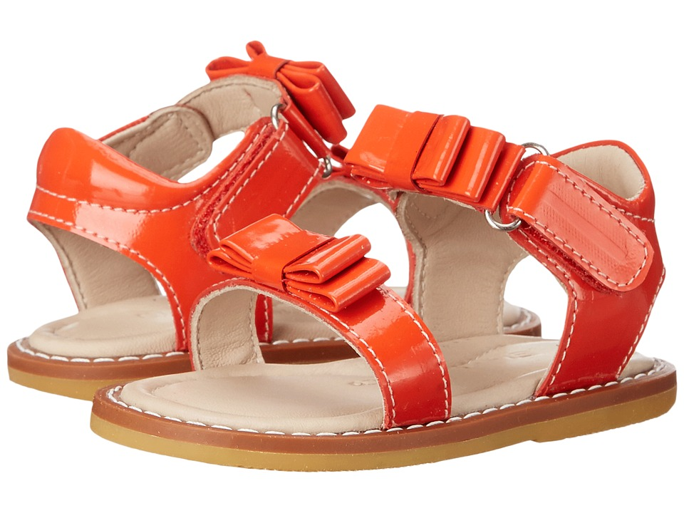 Elephantito - Nicole Sandal (Toddler) (Poppy Red) Girls Shoes