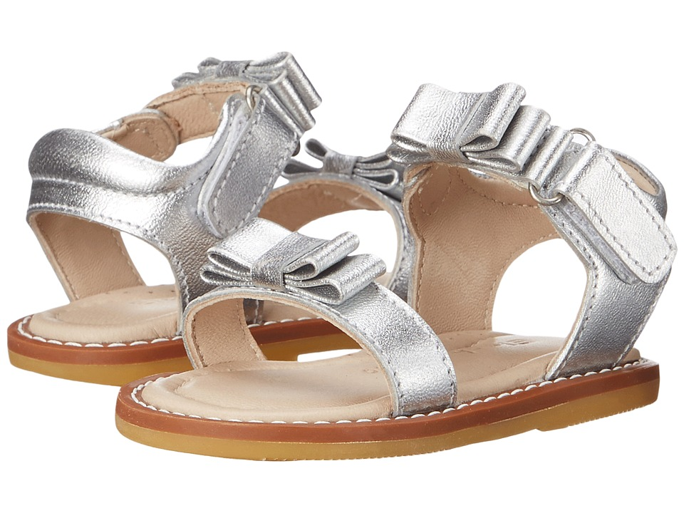 Elephantito - Nicole Sandal (Toddler) (Silver) Girls Shoes