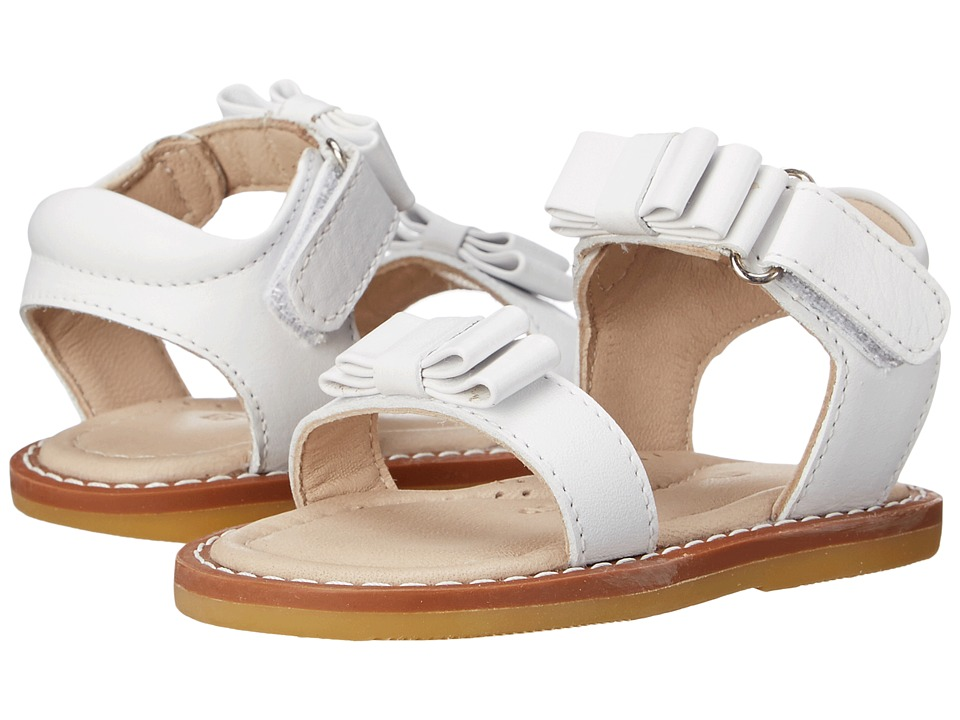 Elephantito - Nicole Sandal (Toddler) (White) Girls Shoes
