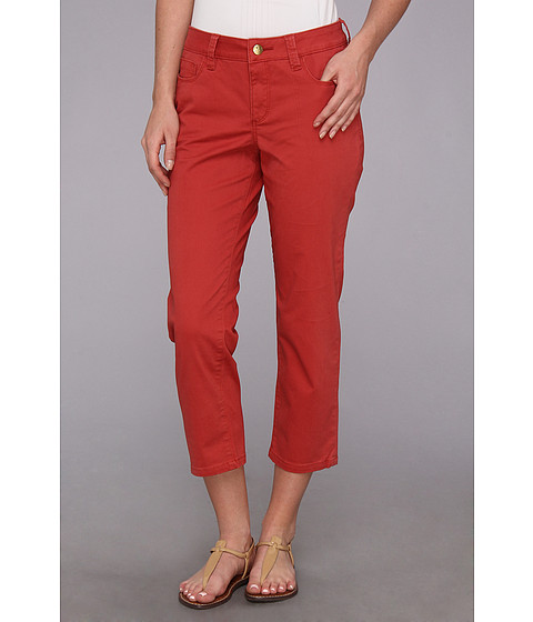 Christopher Blue - Chloe Newport Twill Crop (Diablo Red) Women's Casual Pants
