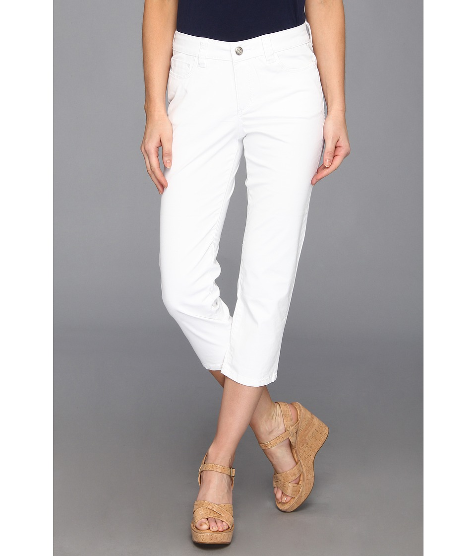Christopher Blue - Chloe Newport Twill Crop (White) Women's Casual Pants