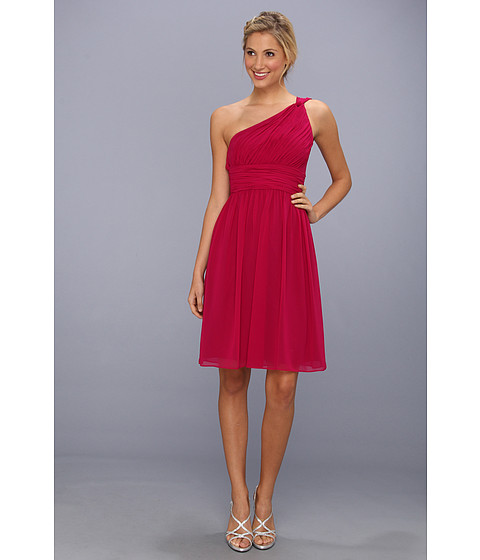 Donna Morgan - Rhea One-Shoulder Dress (Berry Bouquet) Women