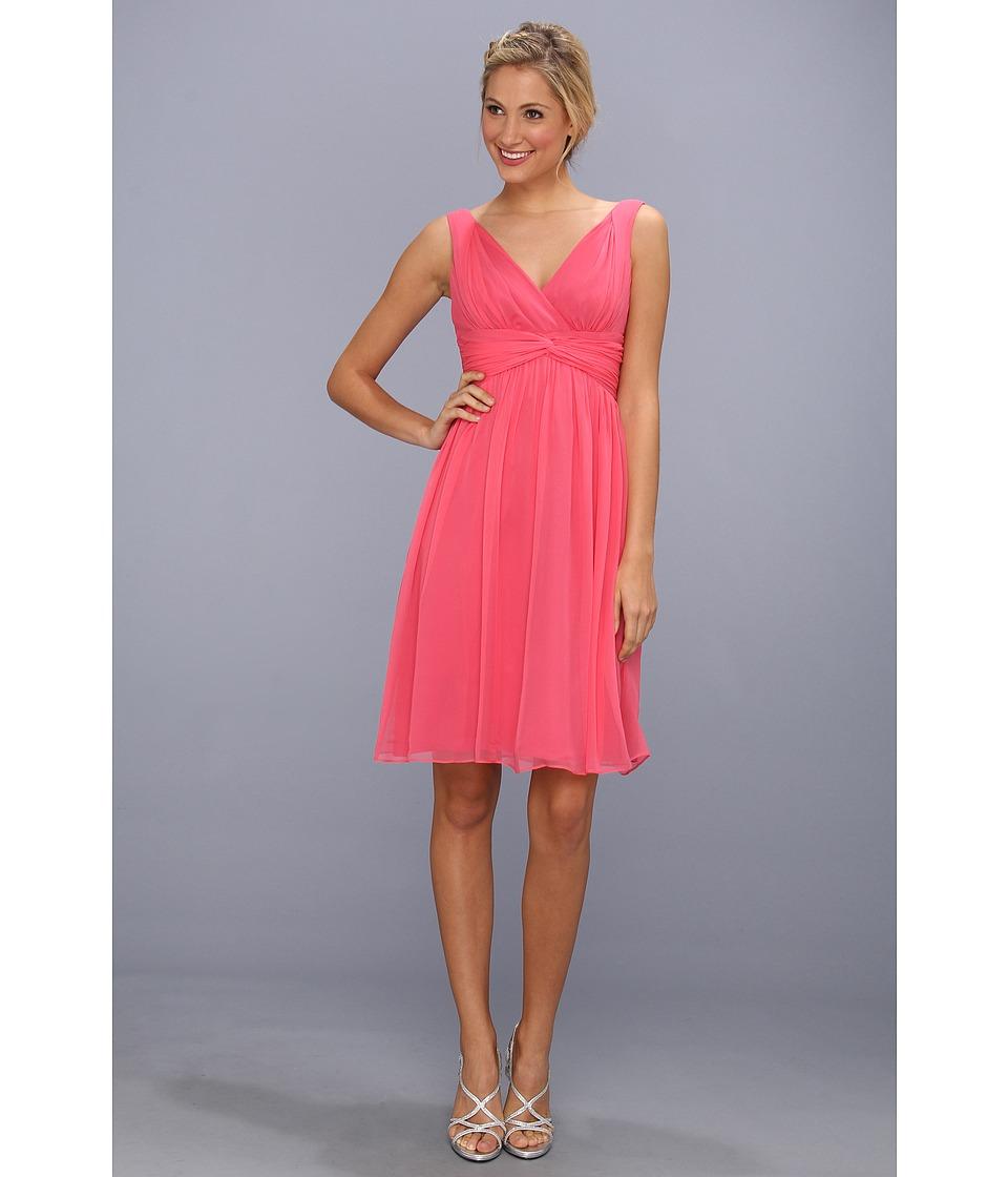 Donna Morgan - Jessie Silk Chiffon Dress (Honeysuckle) Women's Dress