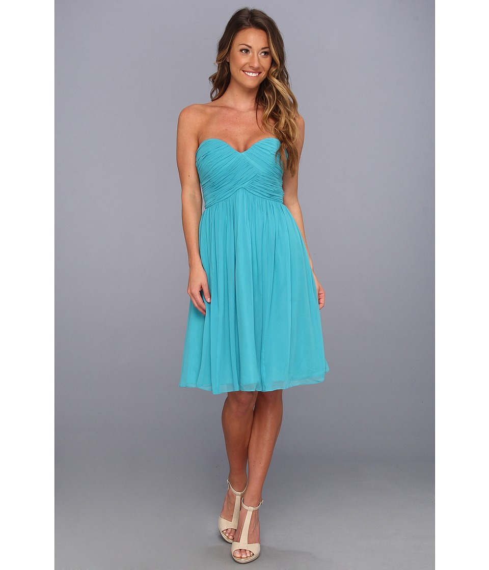 Donna Morgan - Morgan Sweetheart Dress (Blue/Green) Women's Dress