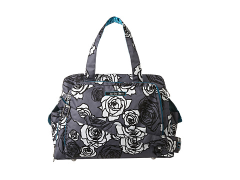 Ju-Ju-Be - Be Prepared Messenger Diaper Bag (Charcoal Roses) Diaper Bags