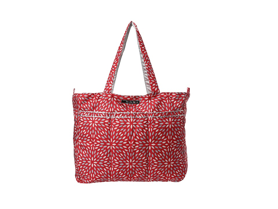 Ju-Ju-Be - Super Be Zippered Tote Diaper Bag (Scarlet Petals) Diaper Bags