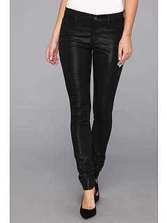 SALE! $73.52 - Save $36 on DKNY Jeans Ave B Ultra Skinny Coated in Noir (Noir) Apparel - 32.86% OFF $109.50