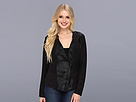 DKNY Jeans Faux Suede And Foil French Terry Jacket