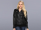 DKNY Jeans Quilted Faux Leather Moto Jacket