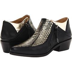 L.A.M.B. Leah (Gold Black) Footwear