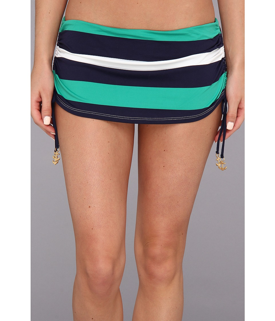 Tommy Bahama - Mare Rugby Side Shirred Skirted Hipster Bottom (Parakeet Green/Mare) Women's Swimwear