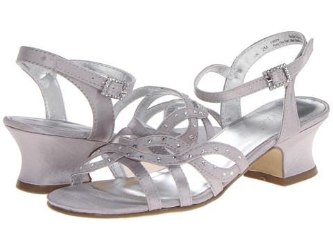 Kenneth Cole Reaction Kids - Pass The Star (Little Kid/Big Kid) (Silver Metallic Satin) Girl