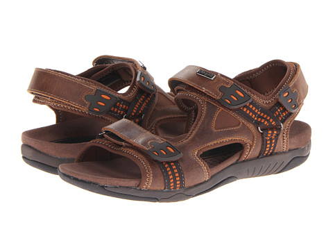 Propet - Anderson (Brown/Orange) Men's Hook and Loop Shoes