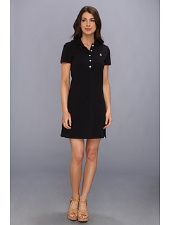 SALE! $36.99 - Save $41 on Tommy Bahama Pique Collared Dress (Black) Apparel - 52.58% OFF $78.00