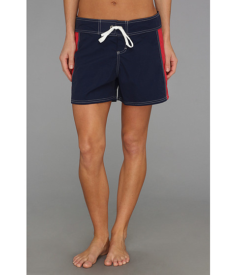 Tommy Bahama - Color Blocked Boardshort 5 (Mare/Crimson) Women's Swimwear