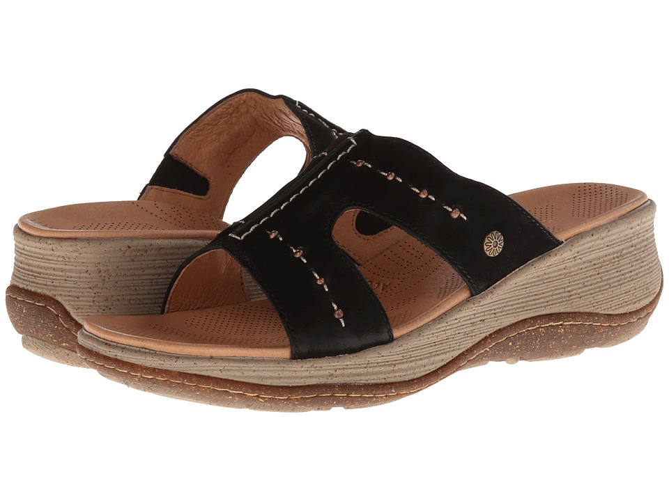 Acorn - Vista Wedge Slide (Black) Women's Sandals plus size,  plus size fashion plus size appare