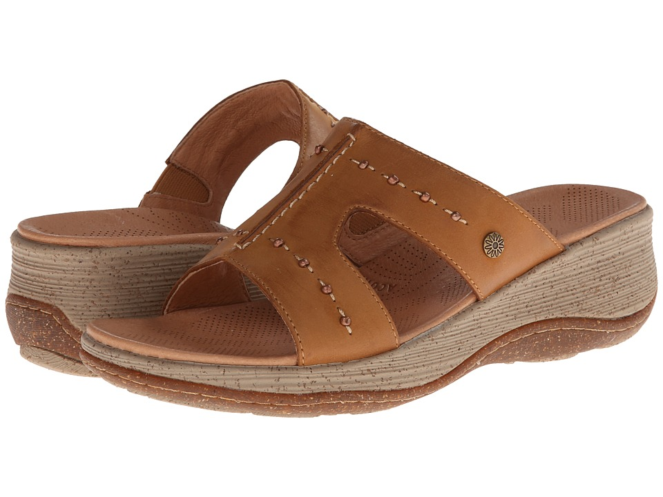Acorn - Vista Wedge Slide (Fawn) Women's Sandals plus size,  plus size fashion plus size appare