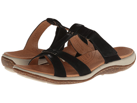 Acorn - C2G Lite T-Strap (Black) Women's Slippers